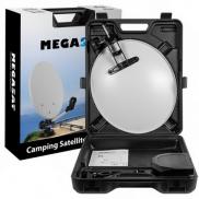 Antena, satelit, portabila, camping